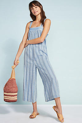 Slide View: 1: Seafolly Dobby Striped Jumpsuit