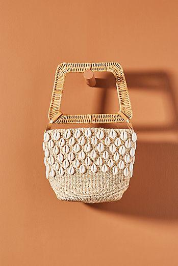 c454eaffe3 Aranaz Kaia Square Handle Basket Bag