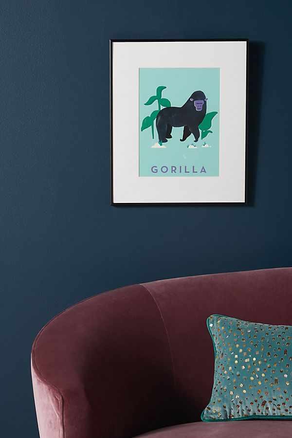 Slide View: 1: Gorilla Wall Art