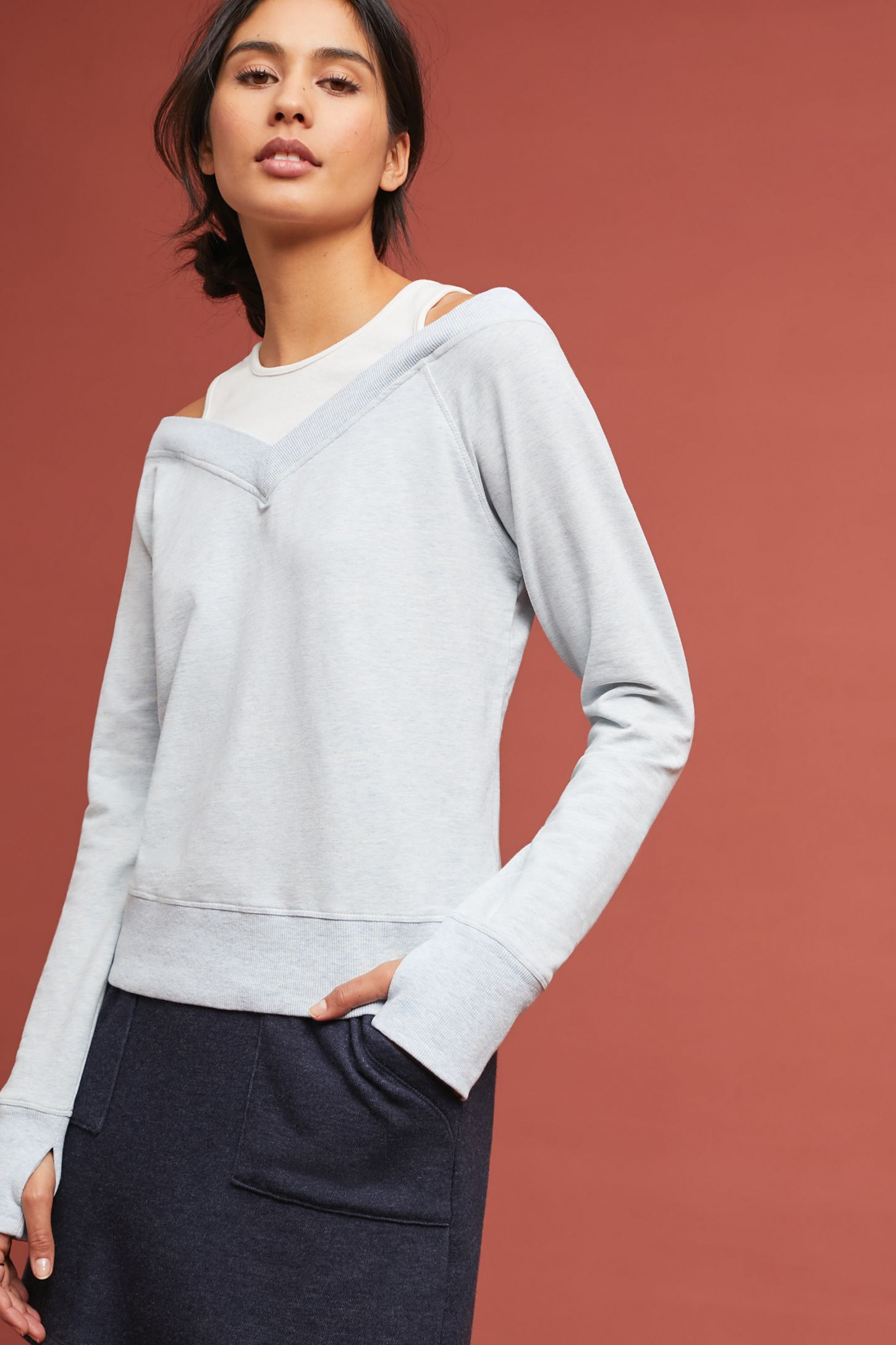 9345a5cbee539 Alpine Off-The-Shoulder Sweatshirt