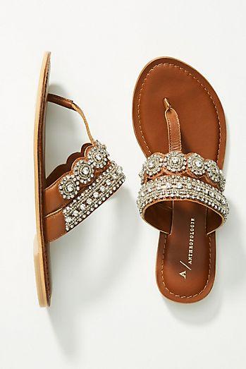 22afeb43dea3 Anthropologie Cressida Embellished Sandals