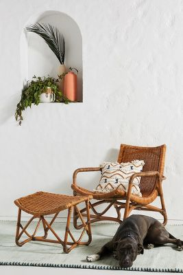 Bodega Lounge Chair & Ottoman by Anthropologie