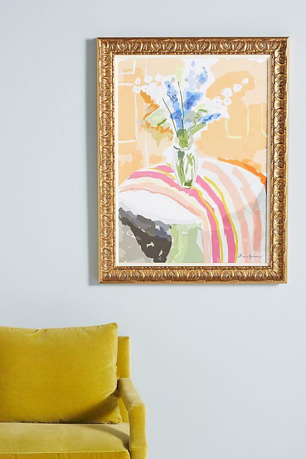 Slide View: 1: Delphiniums Wall Art