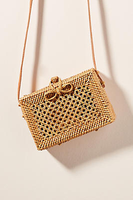 Giovanna Wicker Crossbody Bag by Anthropologie