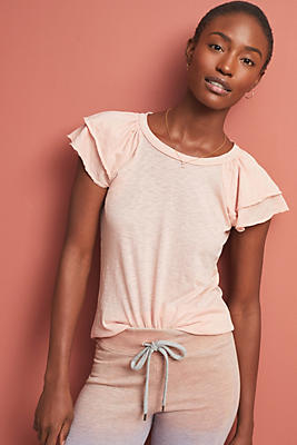 Slide View: 1: Sundry Flutter-Sleeved Top
