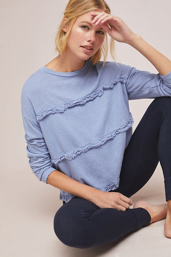 Slide View: 1: Sundry Tiered Long-Sleeved Top