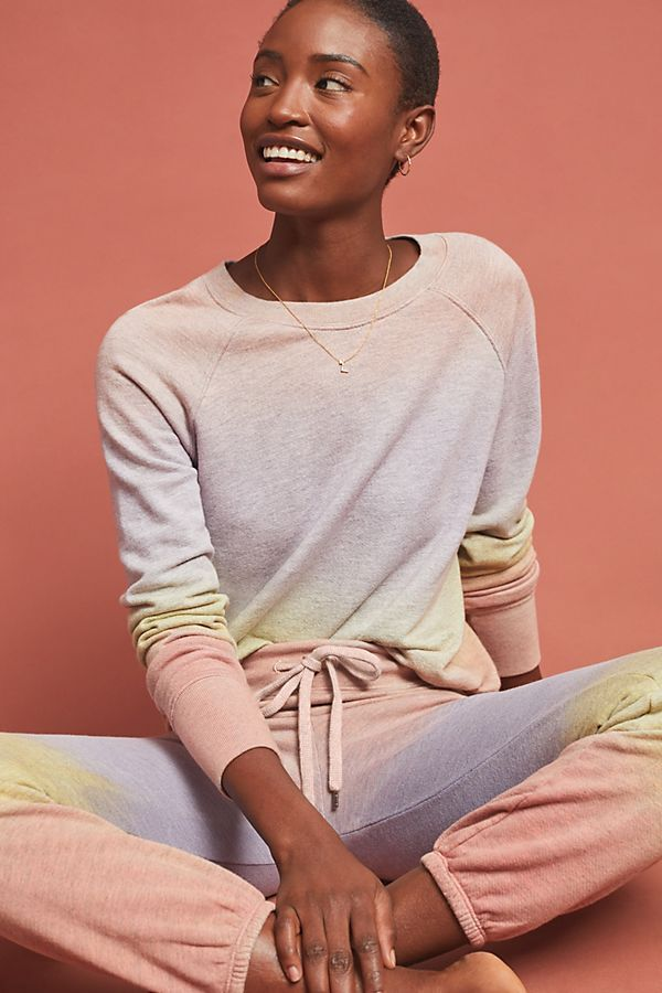 Slide View: 1: Sundry Dip-Dyed Sweatshirt
