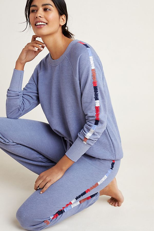 Slide View: 1: Sundry Mosley Embroidered Pullover