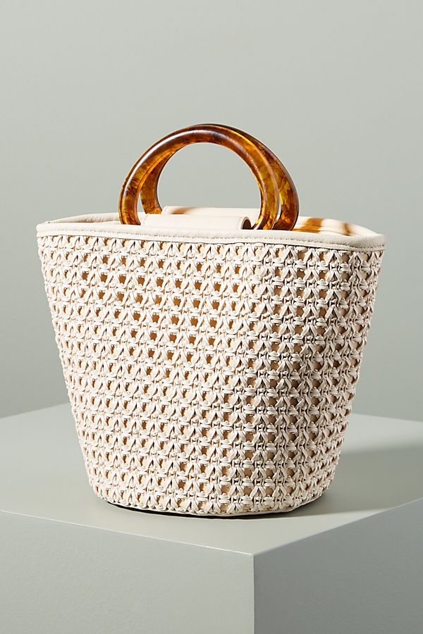 Slide View: 1: Westlyn Woven Bucket Bag
