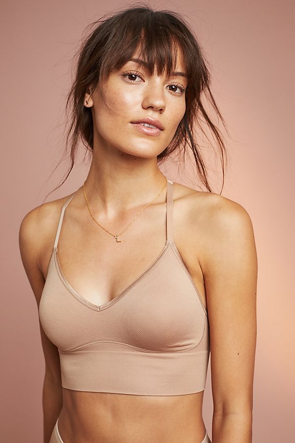 Slide View: 1: Ultralight Seamless Lace-Back Bralette