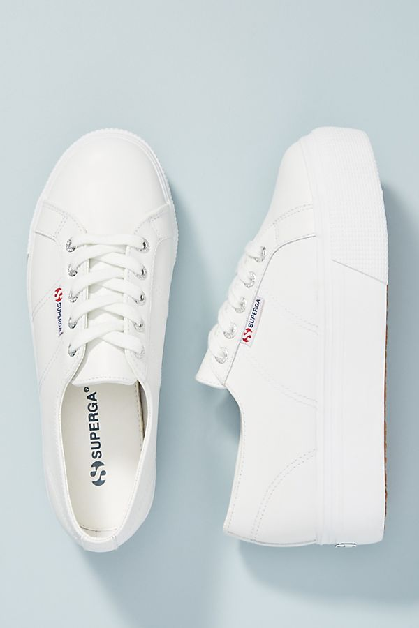 size 40 241ba f5e7f Superga Leather Platform Sneakers