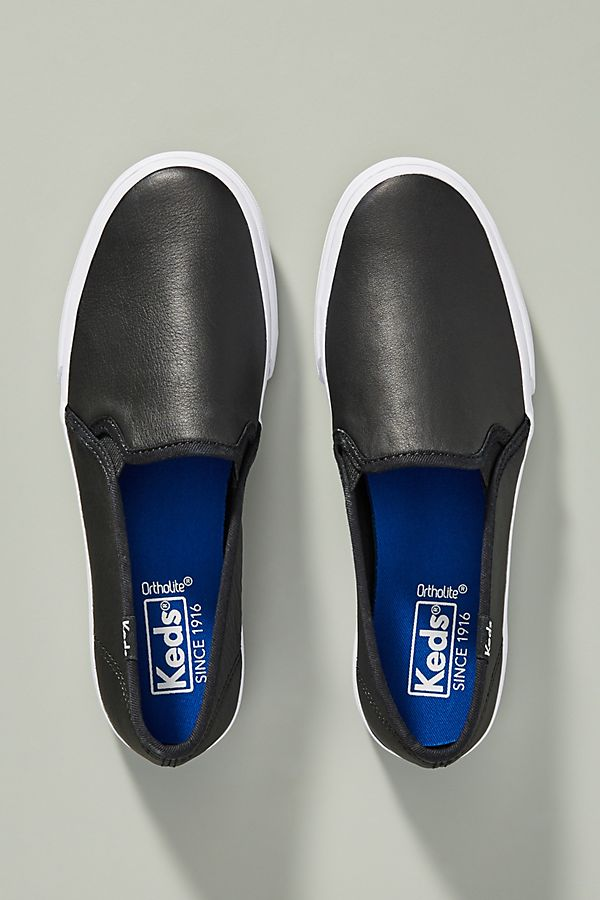 7783ab93e3e3 Slide View  1  Keds Leather Double Decker Slip-On Sneakers