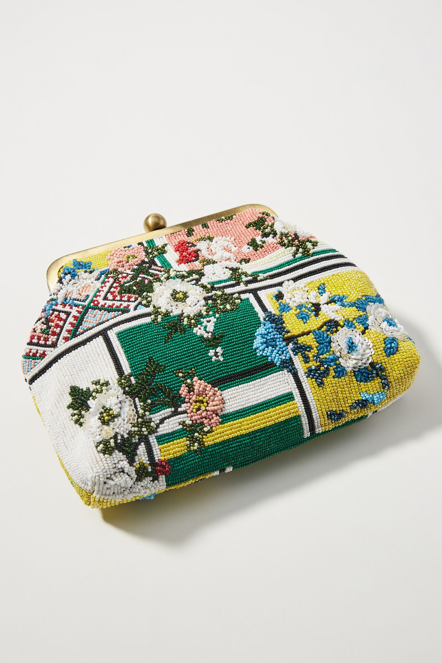 353cfe623857 Floral Patchwork Beaded Clutch | Anthropologie