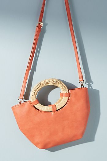 90617e777e Natalia Wicker-Handled Tote Bag