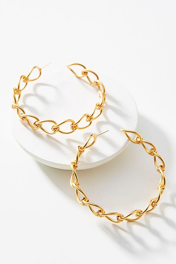 f0949d60fc7e0 Liza Echeverry Modern Love 24K Gold-Plated Hoop Earrings