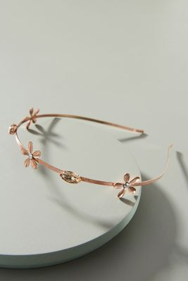 Penny Flower Dotted Headband by Dauphines Of New York