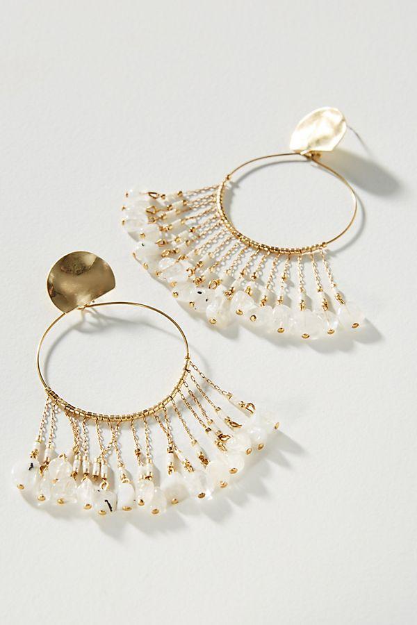 Flutter Hooped Post Earrings