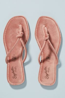 Seychelles Lifelong Velvet Thong Sandals by Seychelles