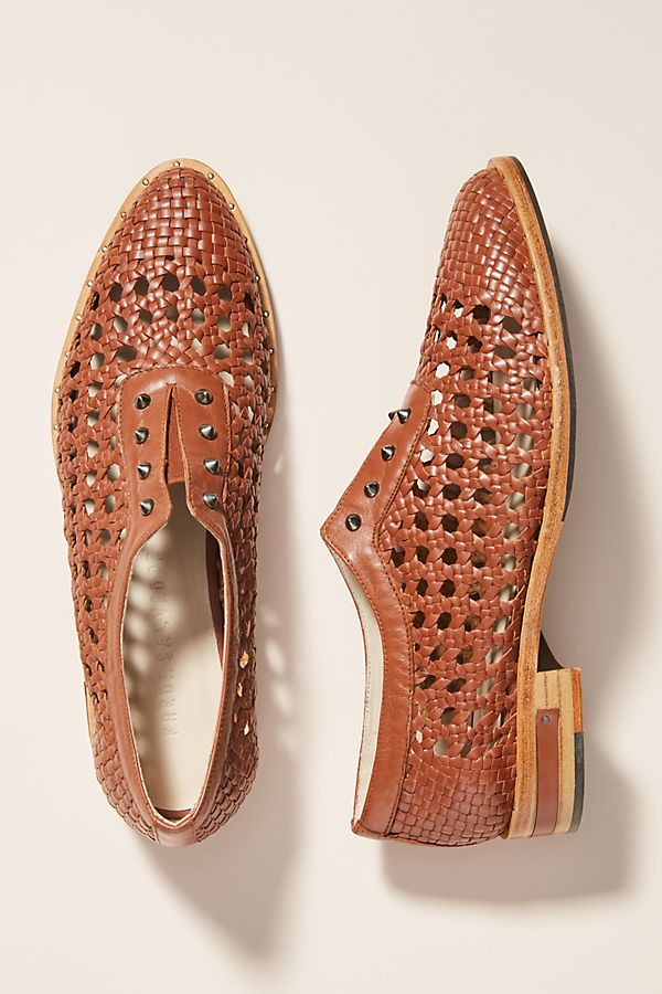 75851f8dc24 Freda Salvador Woven Leather Oxford Loafers