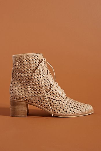 caf858e84916 Freda Salvador Perforated Lace-Up Boots