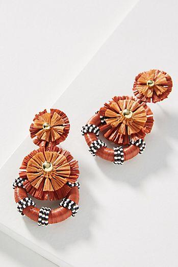Raffia Sunburst Drop Earrings bf6433dca3fe