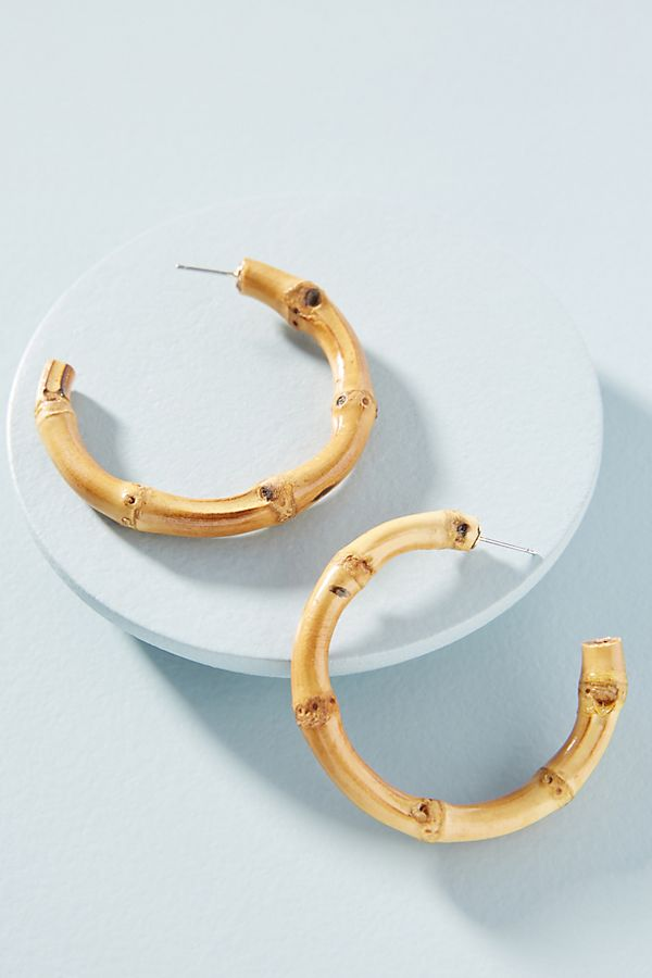 a6a39b4a6 Bamboo Hoop Earrings | Anthropologie
