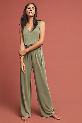 Slide View: 1: Peregrinate Belted Jumpsuit