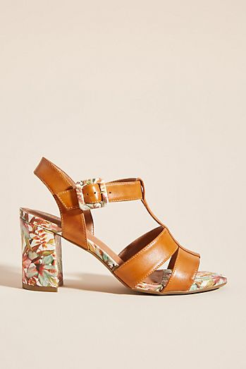 24c455dda144 Capelli Rossi Floral-Printed Heeled Sandals