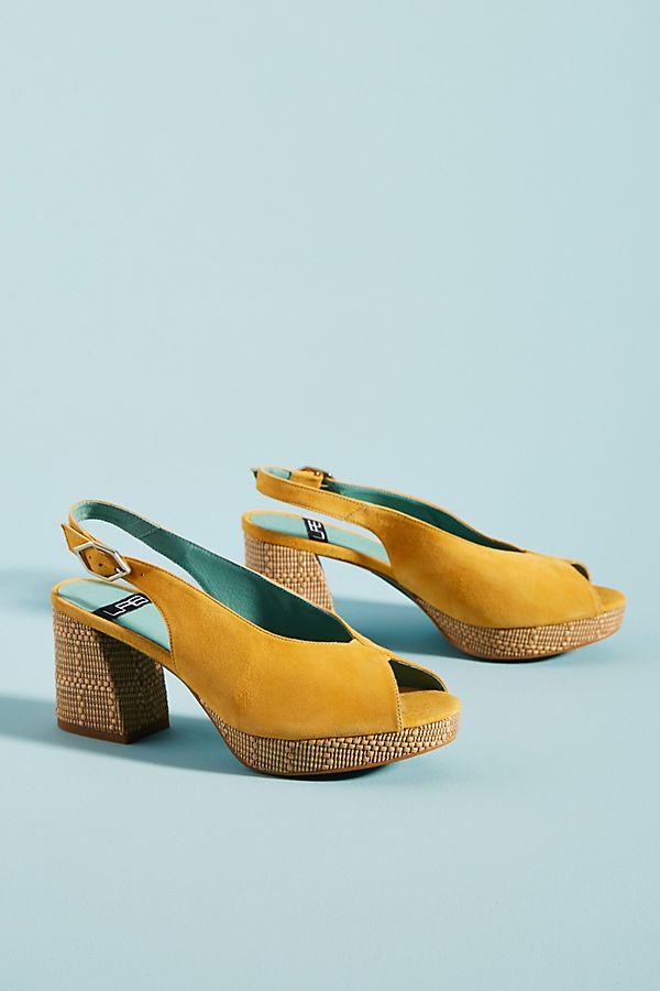Slide View: 2: LAB Rafia Slingback Heels