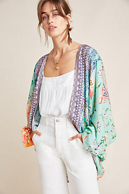 Slide View: 1: Dylan Floral Cocoon Kimono