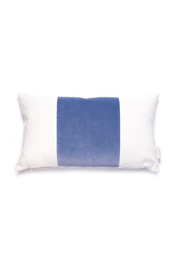 caitlin-wilson-eventide-velvet-broad-stripe-pillow by caitlin-wilson-design