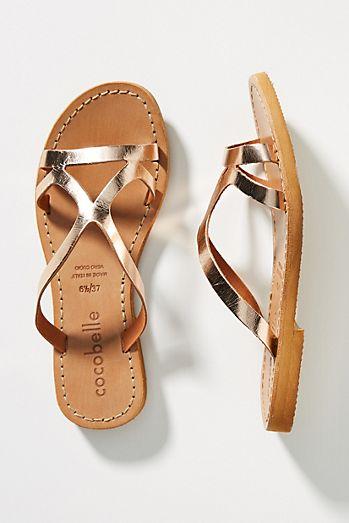 64bce975b3f7 Cocobelle Strappy Slide Sandals