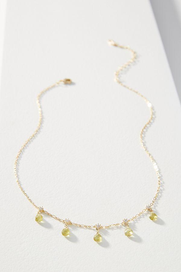 Gemstone Charm Necklace by Serefina
