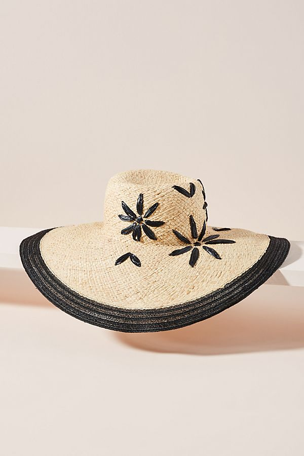 186fc5b8 Il Cappellaio Floral-Embroidered Sun Hat | Anthropologie