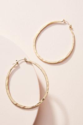 Baylee Large Oval Hoop Earrings by Anthropologie