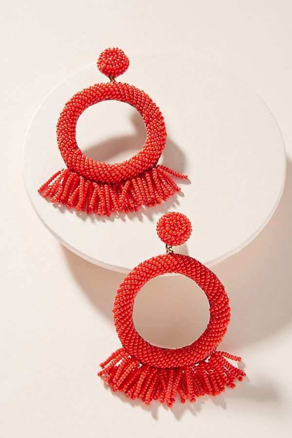 Beaded Rooney Drop Earrings by Deepa