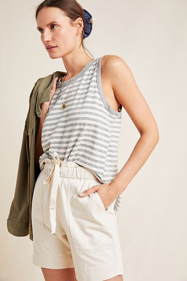 Slide View: 1: Frye x Anthropologie Pascale Paperbag-Waisted Shorts