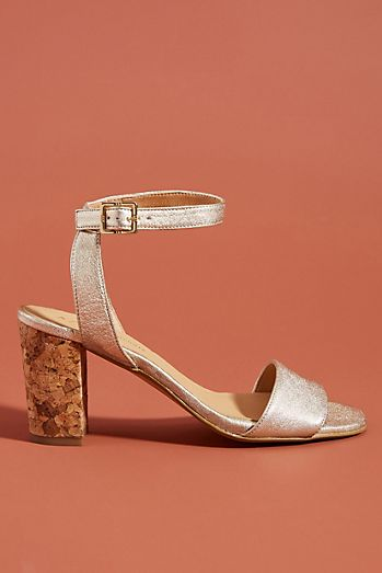 431f5c10c97 Anthropologie Elizabeth Cork-Heeled Sandals