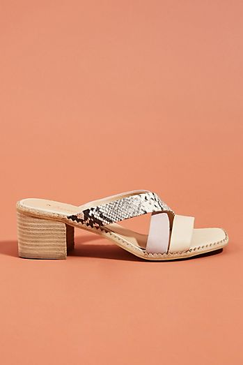 29493d1bb955 Anthropologie MacKenzie Heeled Slide Sandals
