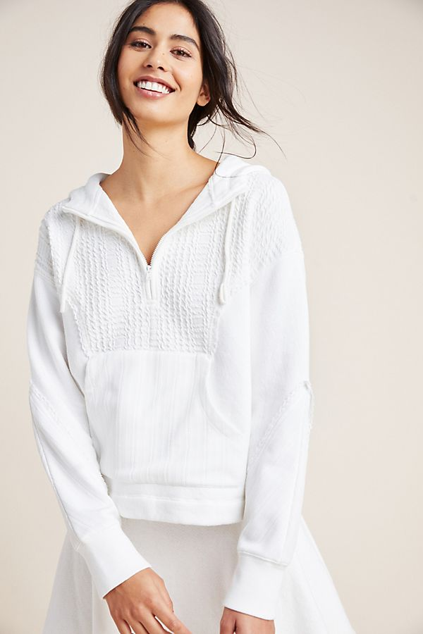 Slide View: 1: Textured Half-Zip Pullover