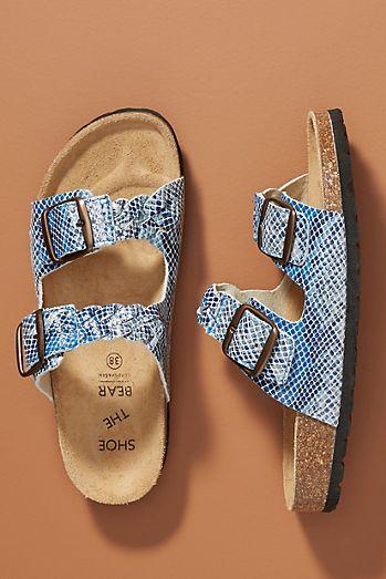 470c8402947709 Shoe The Bear Cara Printed Slide Sandals