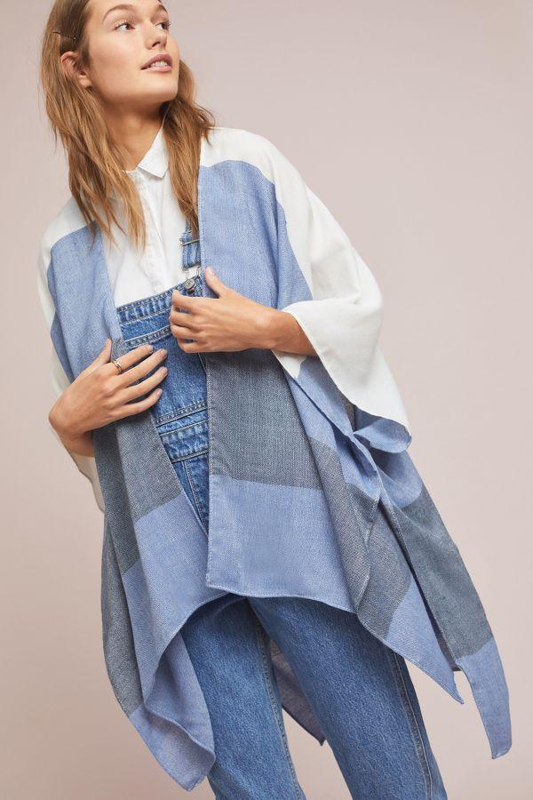 Slide View: 1: Faded Stripe Kimono
