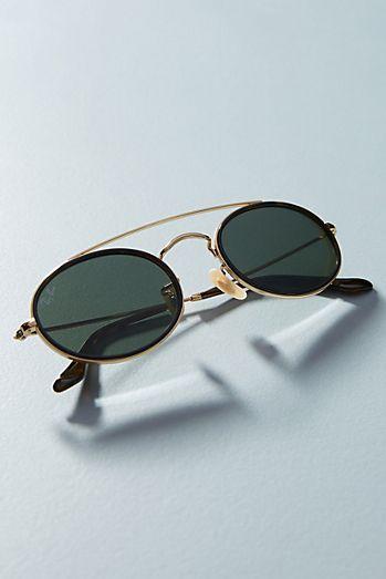 0afeb55e57 Ray-Ban Oval Double Bridge Sunglasses