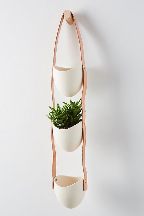 Slide View: 1: Spora Three-Tiered Hanging Planter