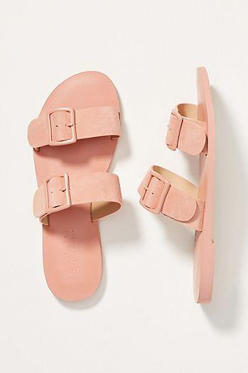 40e63975064a Farylrobin Double-Buckled Slide Sandals