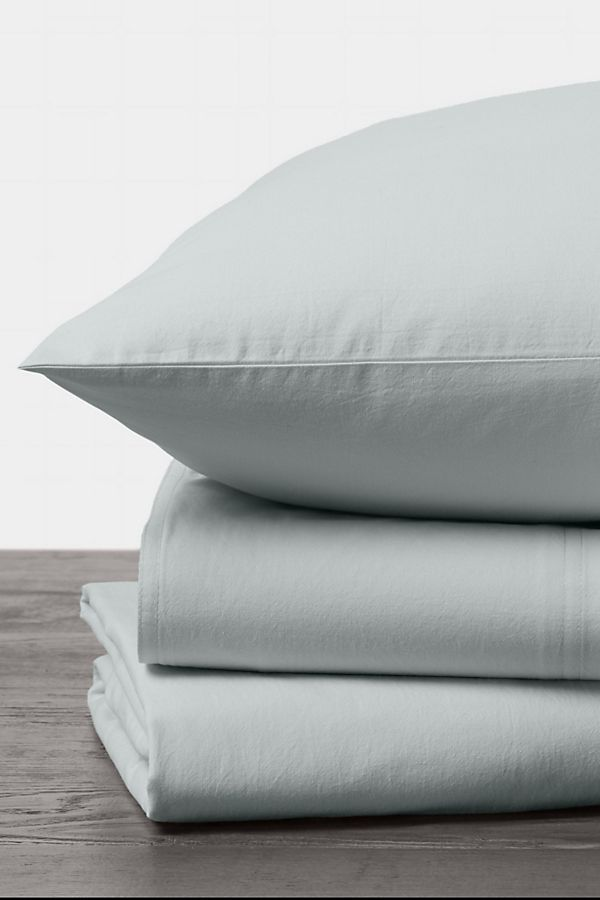 Slide View: 1: Coyuchi Organic Crinkled Percale Sheet Set