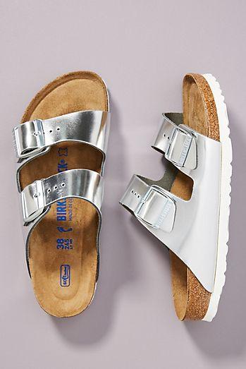 d94147e461 Birkenstock Metallic Arizona Sandals