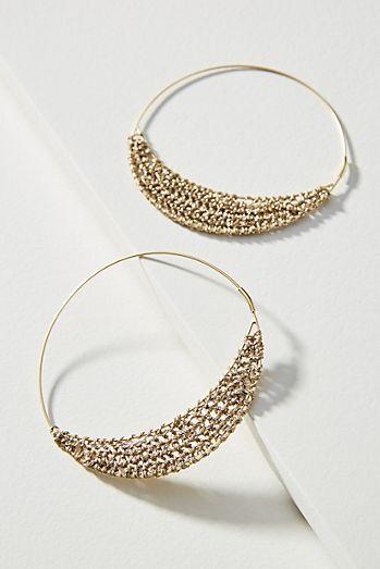 1ffd1a816dbaad Isobel Beaded Hoop Earrings. $54.00. Riley Crochet Hoops
