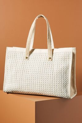 Cora Raffia Tote Bag by Anthropologie