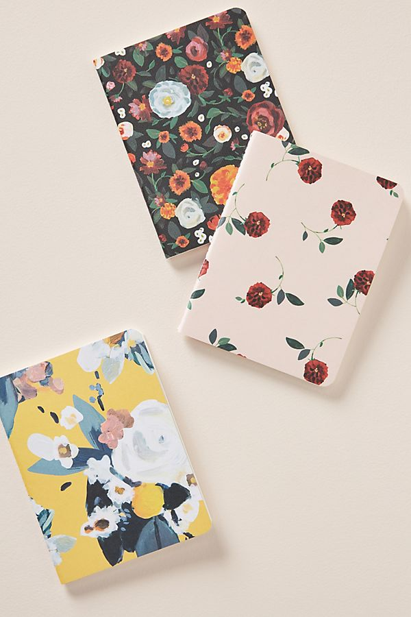 Set Of 3 Lena Journals by Anthropologie